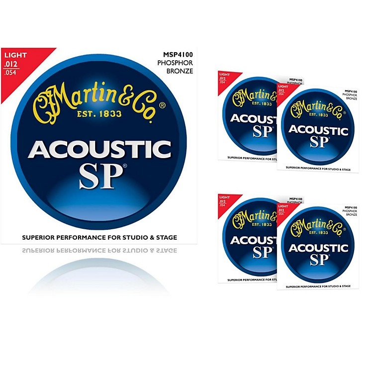 Martin MSP4100 Phosphor Bronze Light Acoustic Strings (5-Pack)