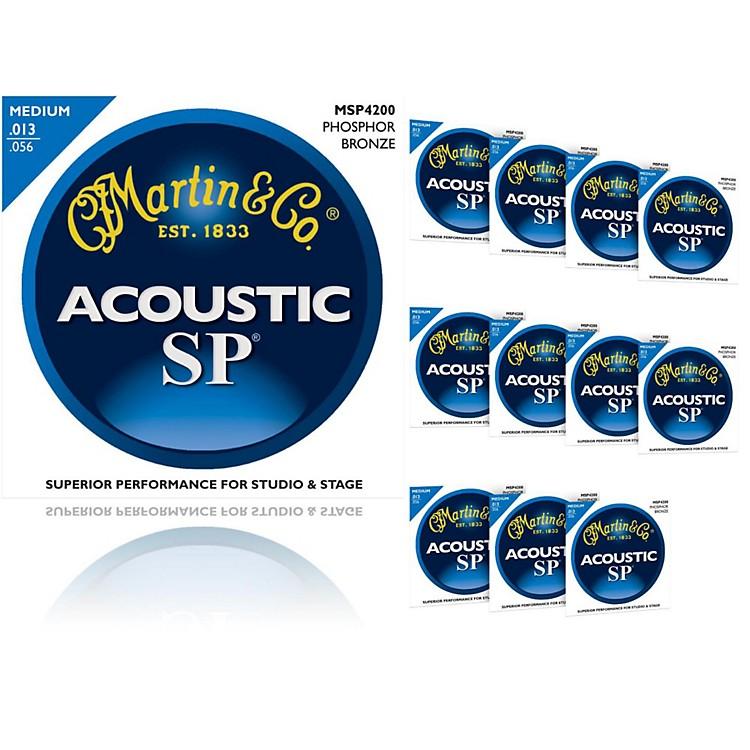 MartinMSP4200 Phosphor Bronze Medium Acoustic Strings (12 Pack)
