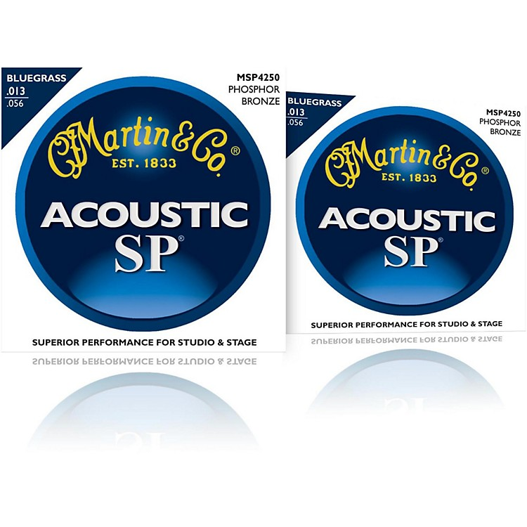 Martin MSP4250 SP Phosphor Bluegrass Medium Acoustic Guitar Strings (2 Pack)