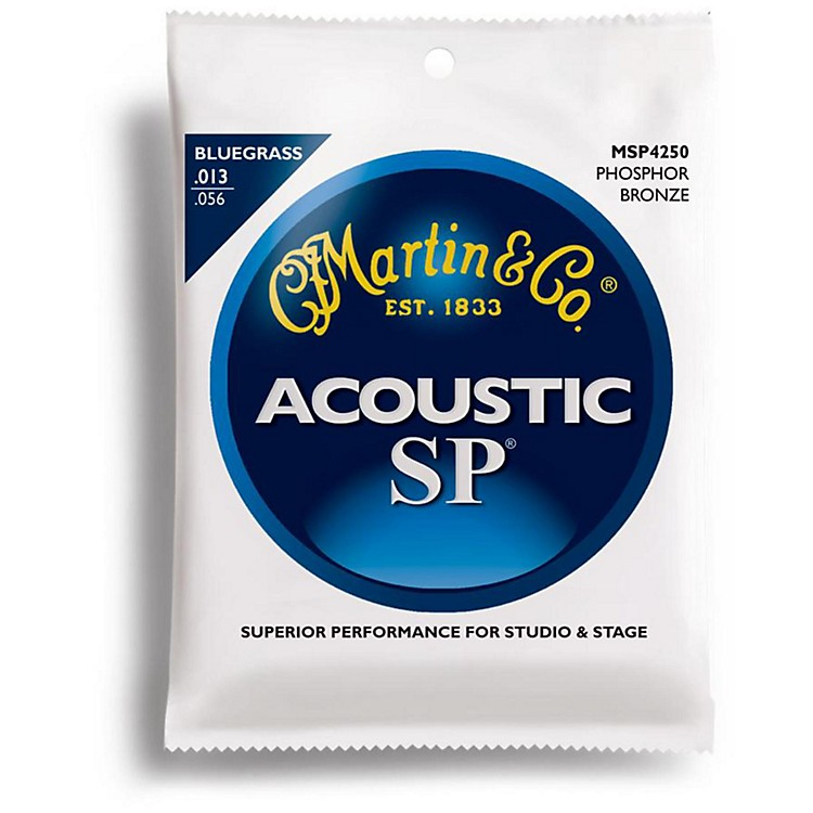 Martin MSP4250 SP Phosphor Bluegrass Medium Acoustic Guitar Strings