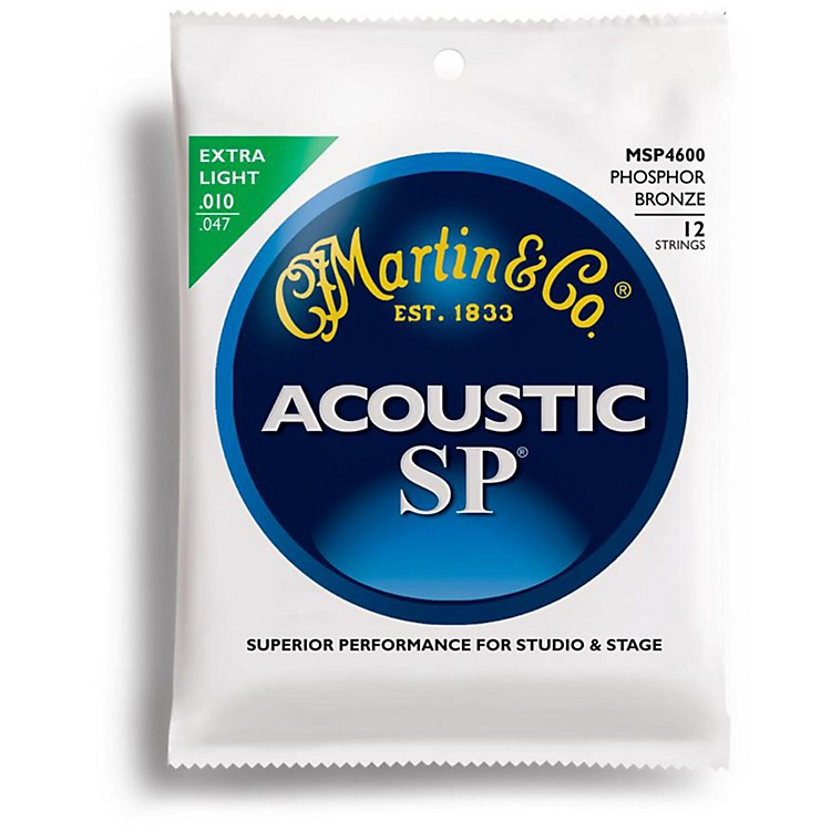 MartinMSP4600 12-String Phosphor Bronze Extra LightAcoustic Guitar Strings