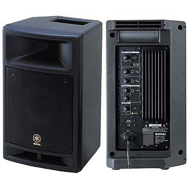 Yamaha msr100 8 powered speaker music123 for Yamaha pro audio