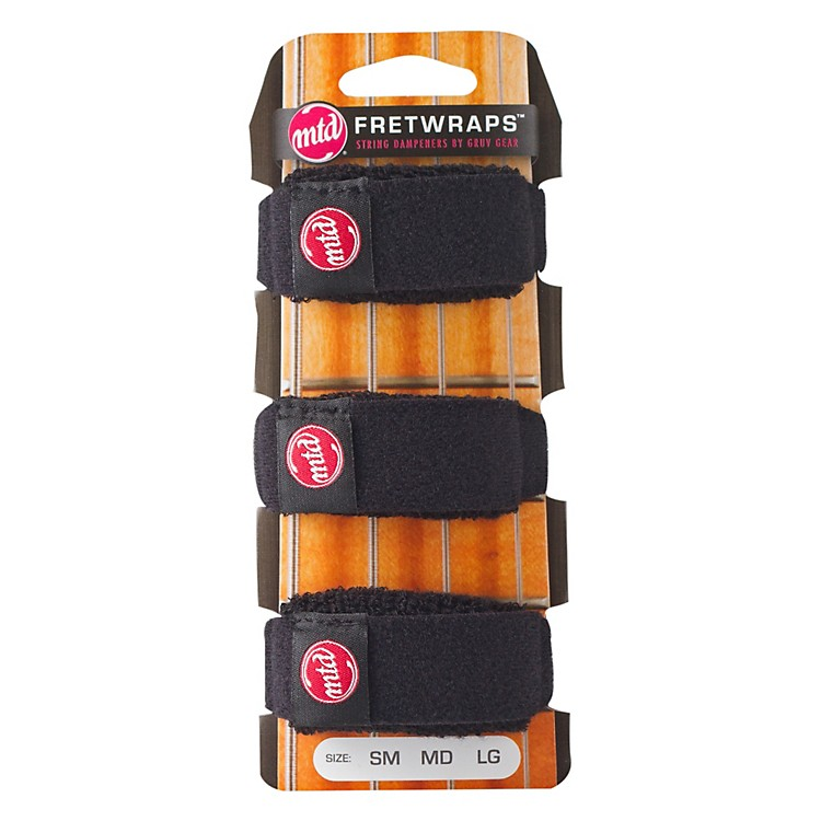 Gruv Gear MTD FretWraps String Muters (3-Pack) Large Black