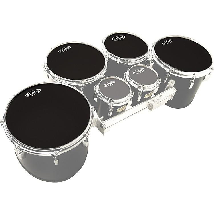 EvansMX Black Tenor Drumhead 4-Pack