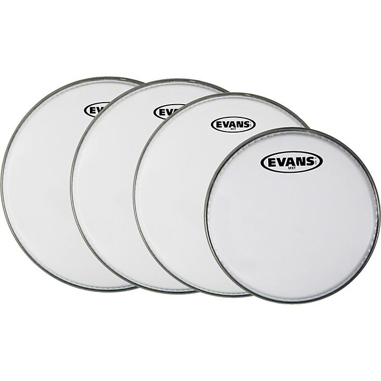 EvansMX White Tenor Drumhead 4-Pack