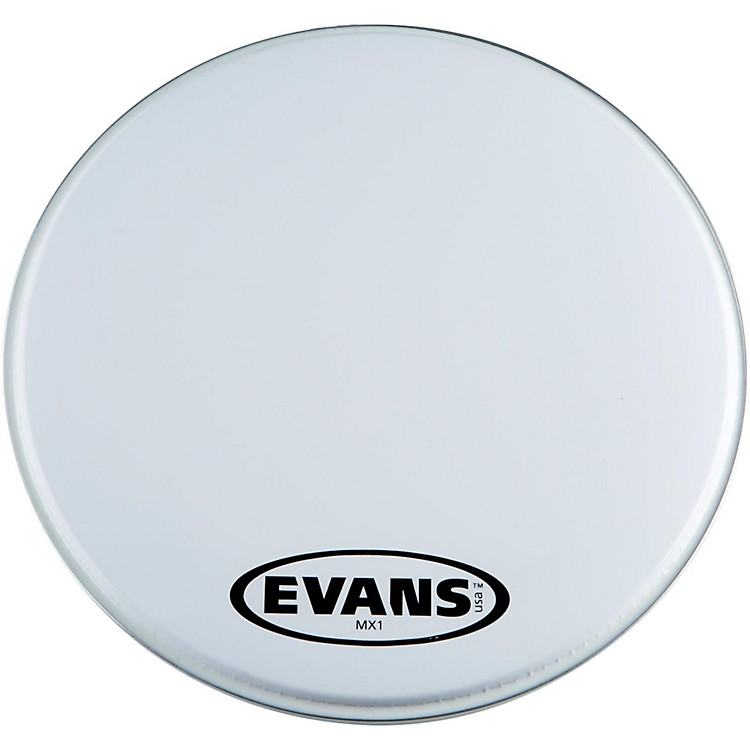 EvansMX1 White Marching Bass Drum Head16 in.