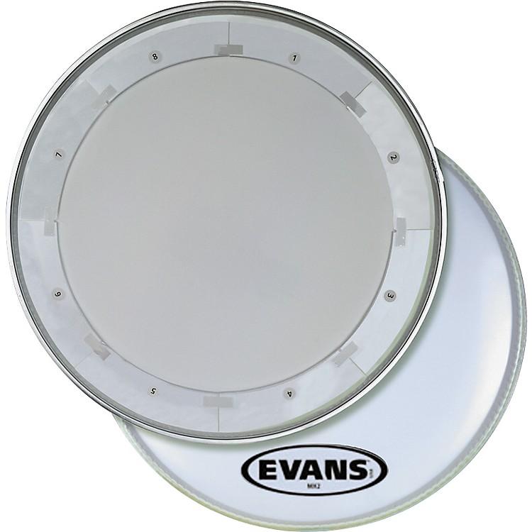 EvansMX1 White Marching Bass Drum Head