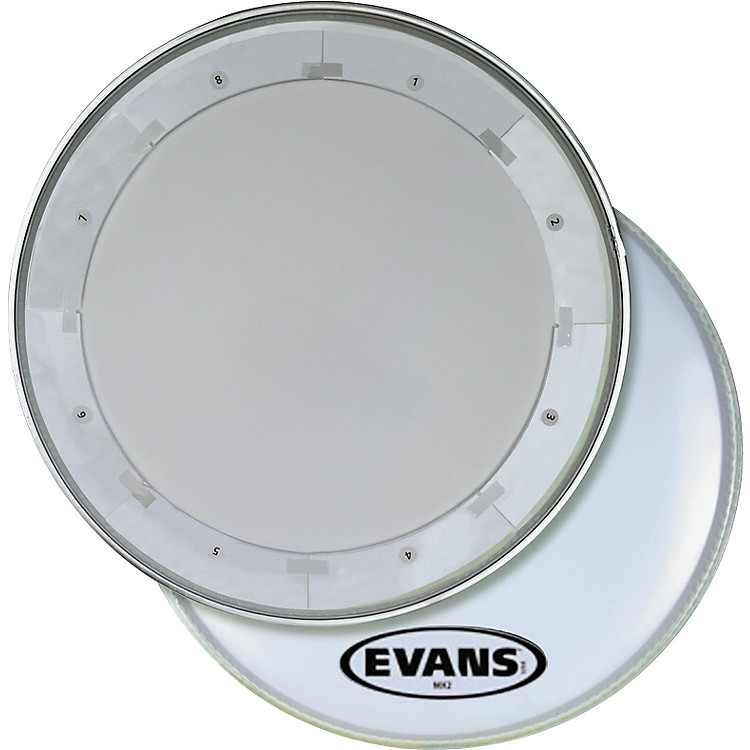EvansMX1 White Marching Bass Drum Head28 in.