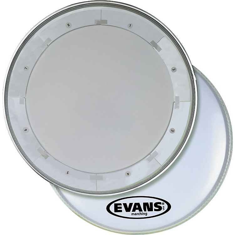 Evans MX1 White Marching Bass Drum Head  18 Inch