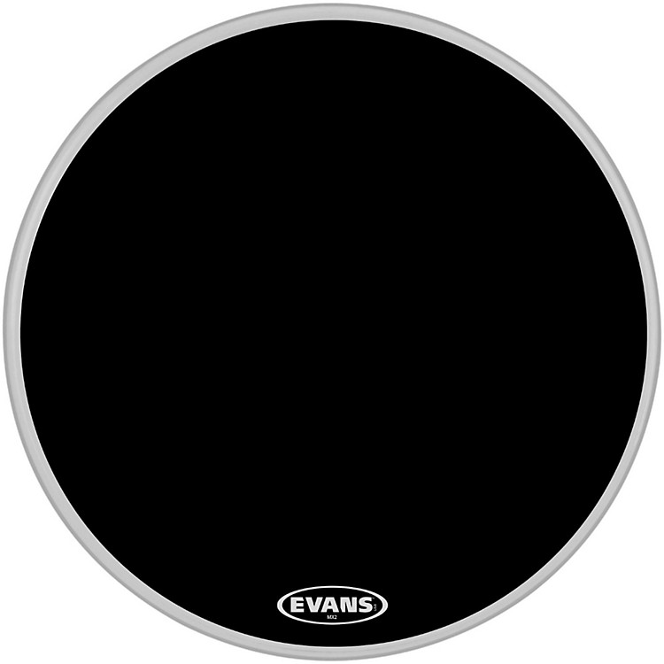 Evans MX2 Black Marching Bass Drum Head Black 32 in.