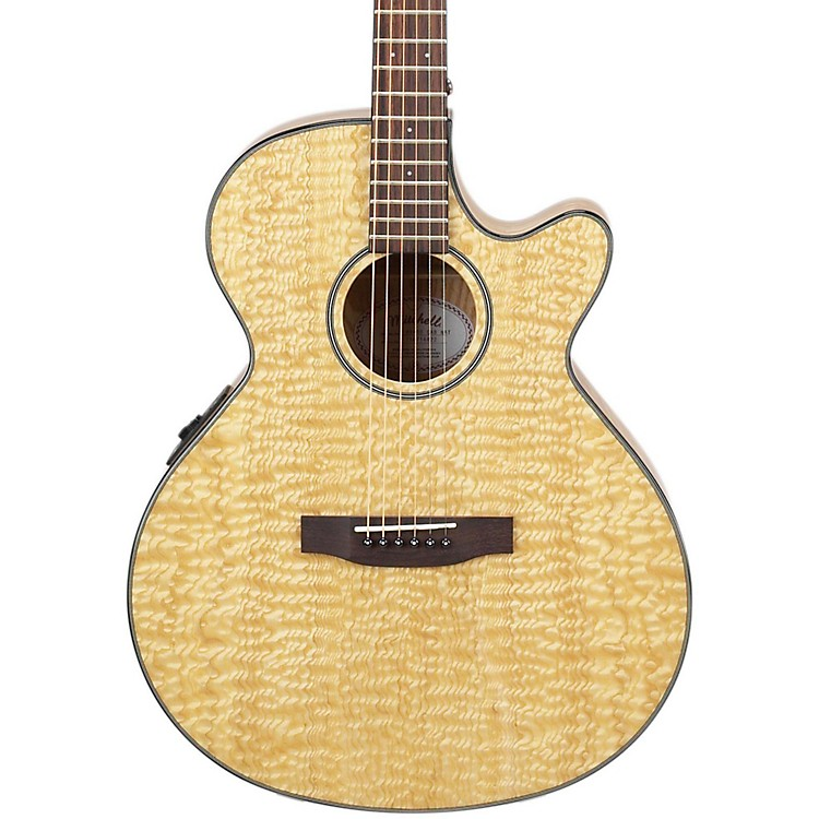 Mitchell MX400 Exotic Wood Acoustic-Electric guitar Quilted Ash Burl