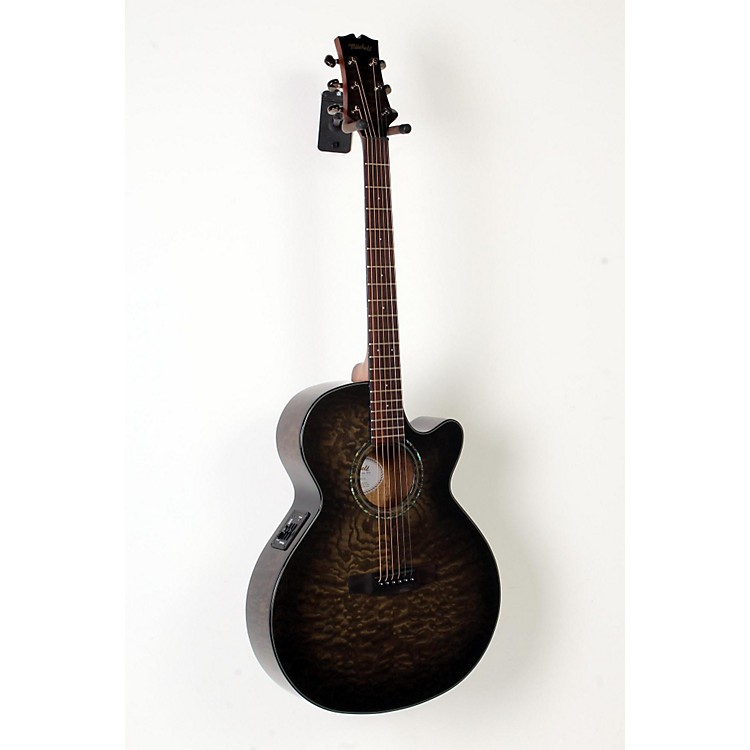 Mitchell MX420 Grand Auditorium Acoustic-Electric Guitar Midnight Black Finish 888365831497