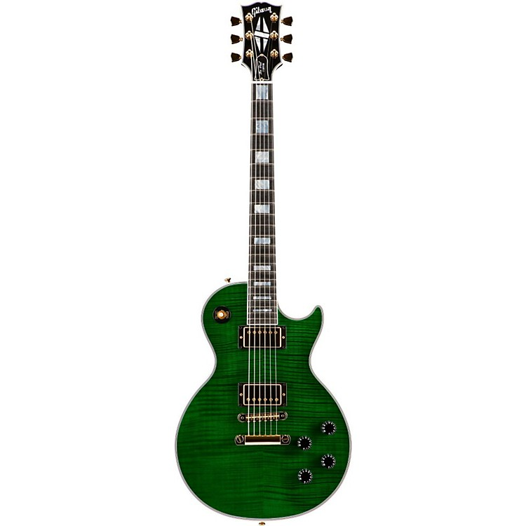 Gibson CustomMade to Measure Figured Les Paul CustomTransparent Green