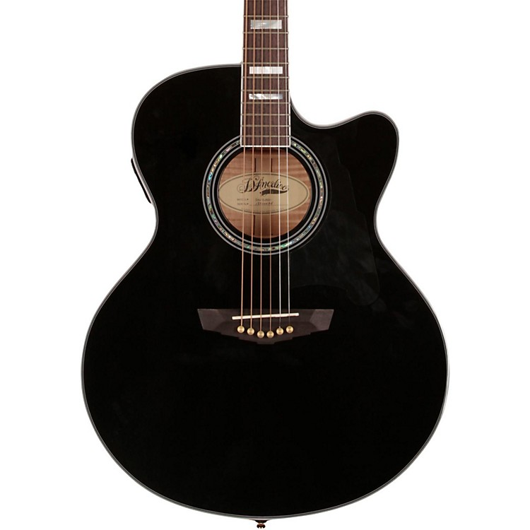 D'Angelico Madison Jumbo Cutaway Acoustic-Electric Guitar Black