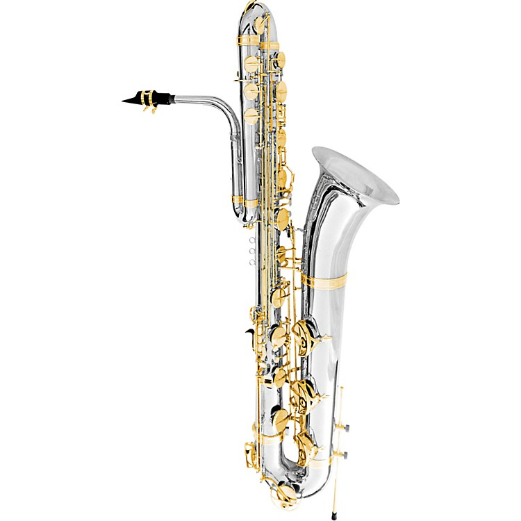 OlegMaestro Bass SaxophoneSilver Plated with Gold Keys