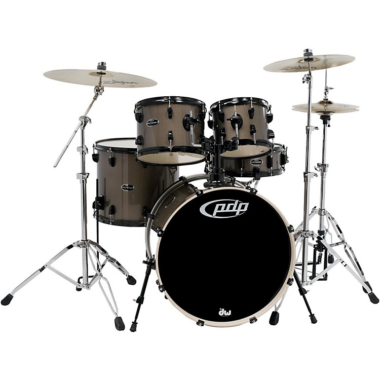 PDP Mainstage 5-Piece Drum Set with Zildjian Cymbals Bronze Metallic
