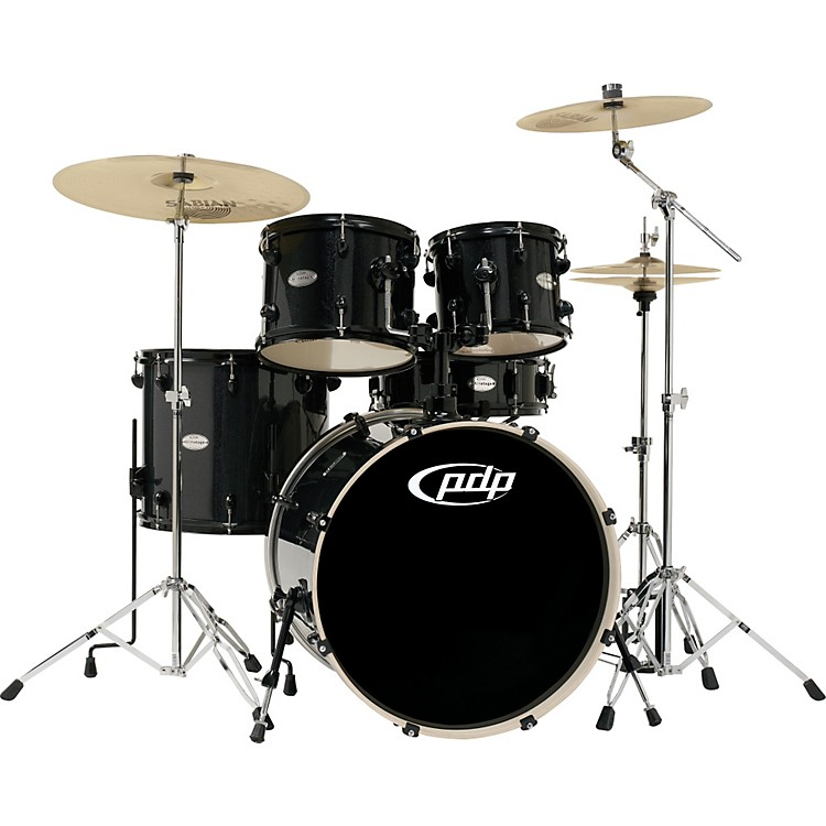 PDP Mainstage 5-piece Drum Set with Sabian Cymbals Black Metallic