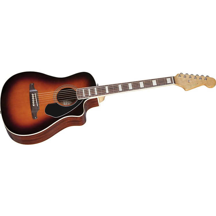 Fender Malibu SCE Solid Top Cutaway Acoustic-Electric Guitar 3 Color Sunburst