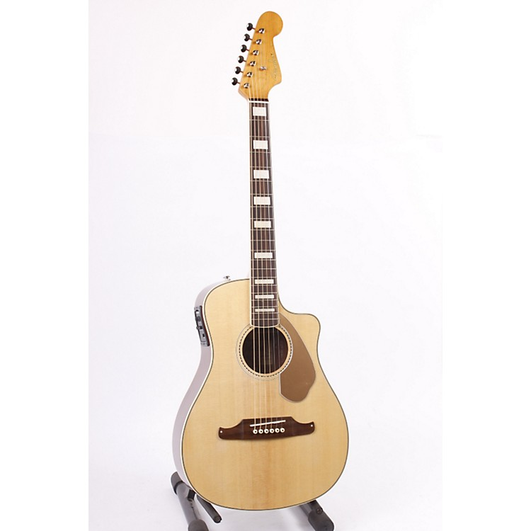 Fender Malibu SCE Solid Top Cutaway Acoustic-Electric Guitar Natural 886830653087