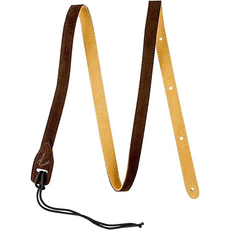 FenderMandolin Durable Suede Leather StrapBrown2 in.