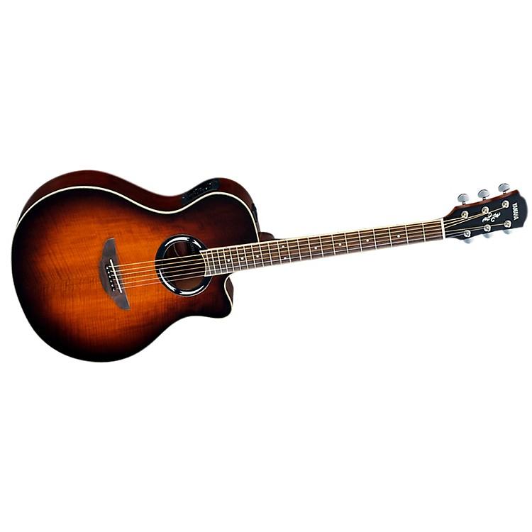 yamaha mango top acoustic electric guitar music123. Black Bedroom Furniture Sets. Home Design Ideas