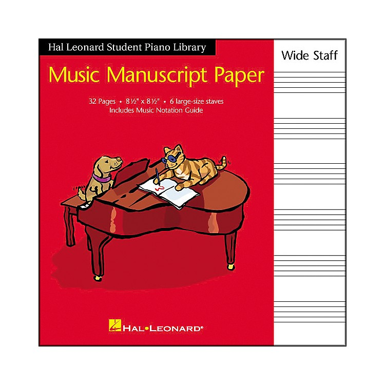 Hal LeonardManuscript Paper 8 1/2