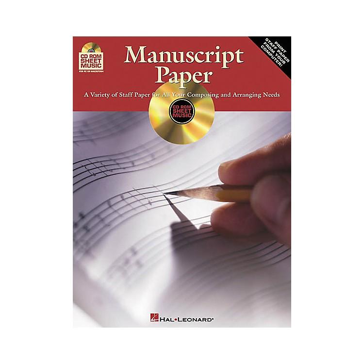 Hal LeonardManuscript Paper (CD-ROM)