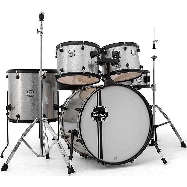 MapexMapex Voyager Standard Drum Set with Black HardwareCrystal Sparkle