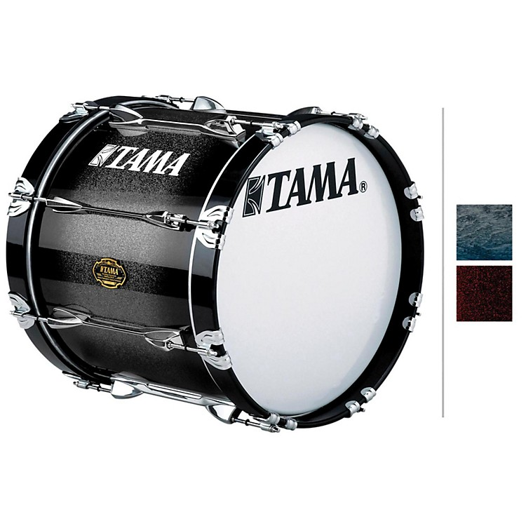 Tama MarchingMaple Bass DrumRed Sparkle Fade14x18