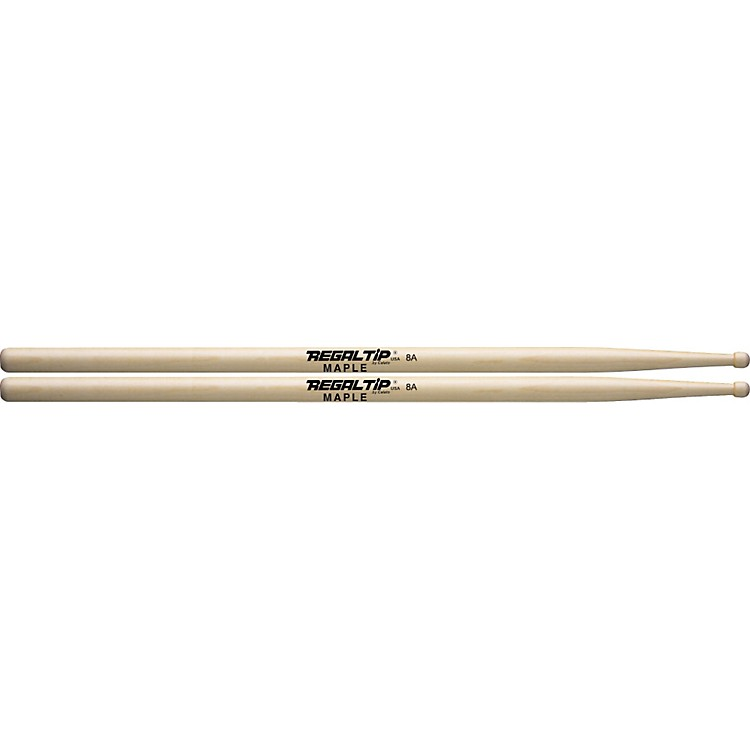 Regal Tip Maple Drumsticks 8A