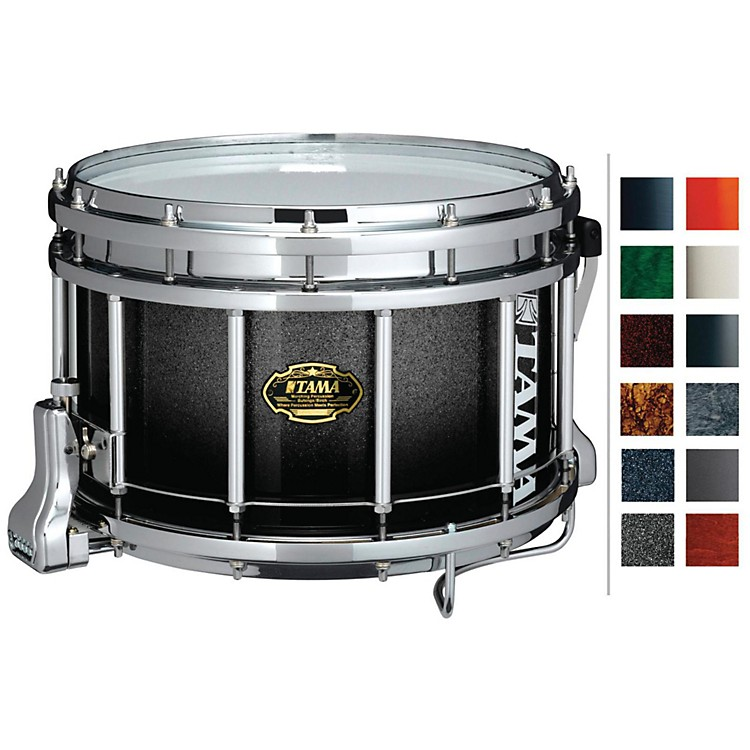 Tama Marching Maple Snare Drum Piano Black 9x14