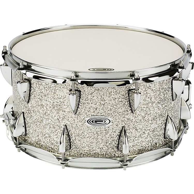 Orange County Drum & Percussion Maple Snare 7x14, Silver Sparkle