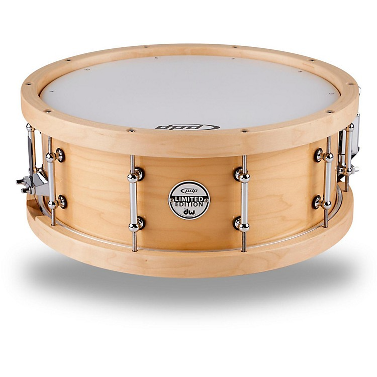 PDP Maple Snare with Wood Hoops Natural 5.5X14 Inches