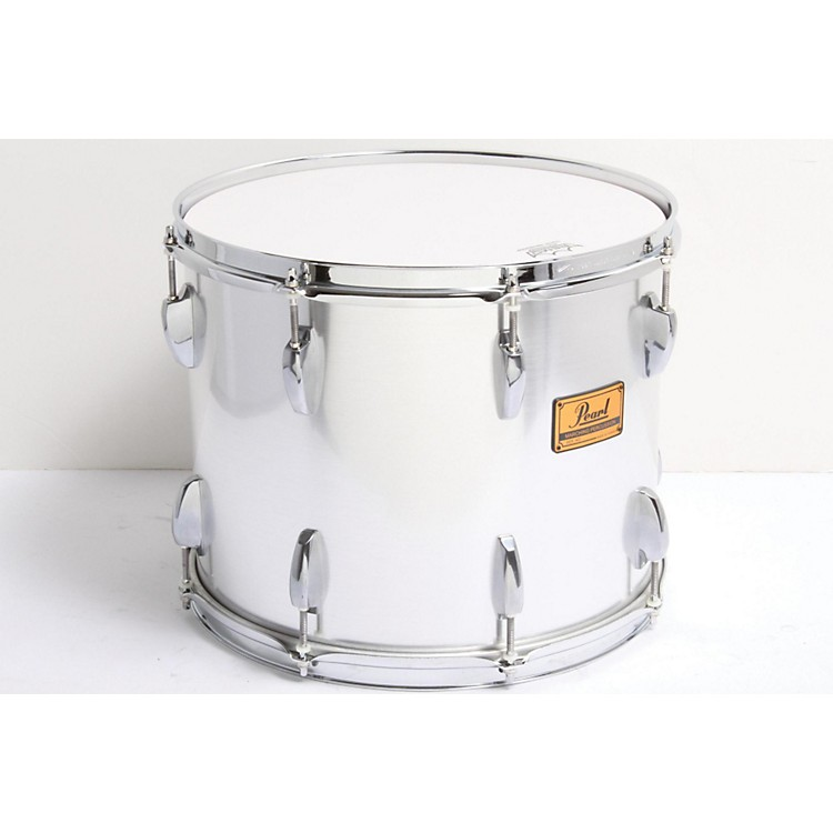 PearlMaple Traditional Tenor Drum with Championship Lugs#26 Brushed Silver, 15x12886830066856