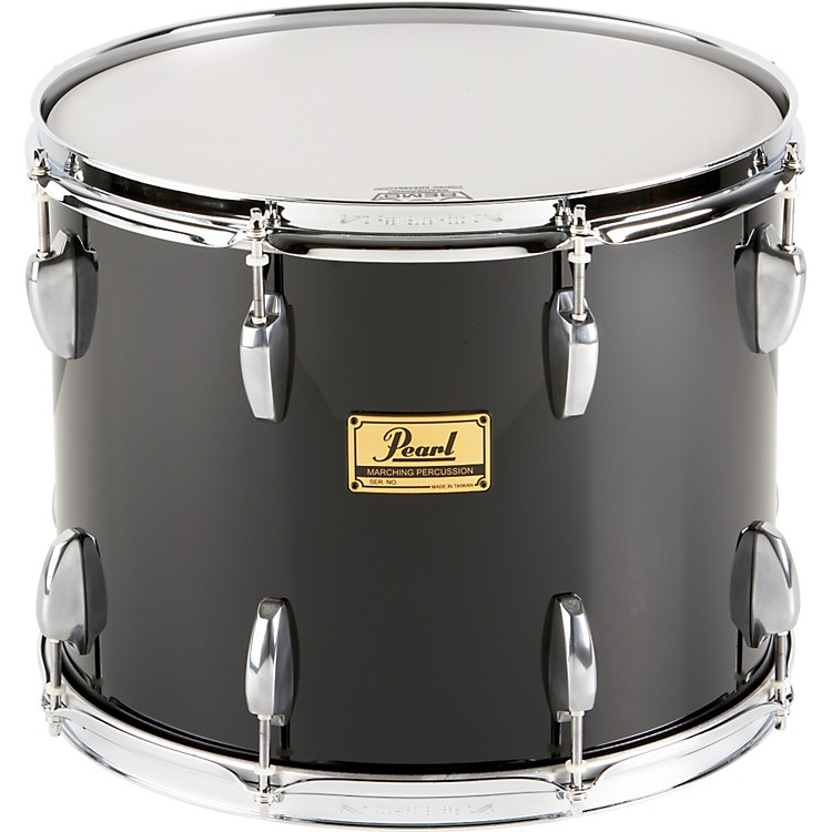 Pearl Maple Traditional Tenor Drum with Championship Lugs Midnight Black (#46) 15x12