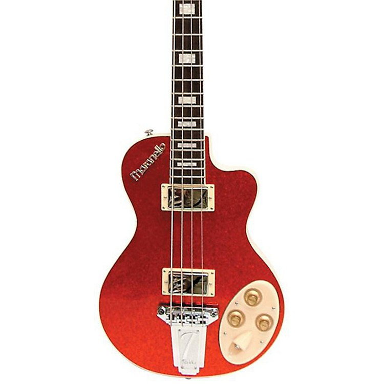 Italia Maranello Electric Bass Guitar Red Sparkle