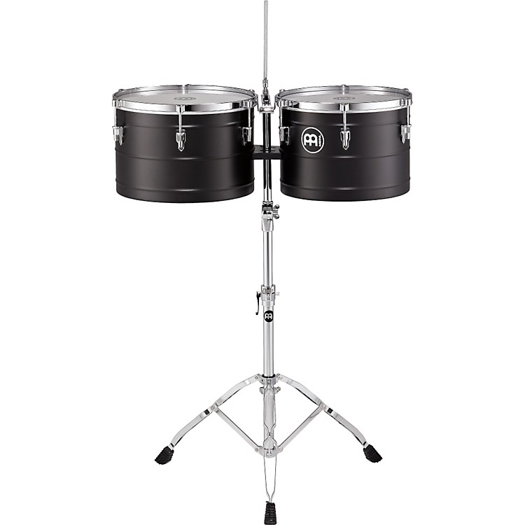 Meinl Marathon Series Steel Turbo Timbales Black Powder Coated Steel