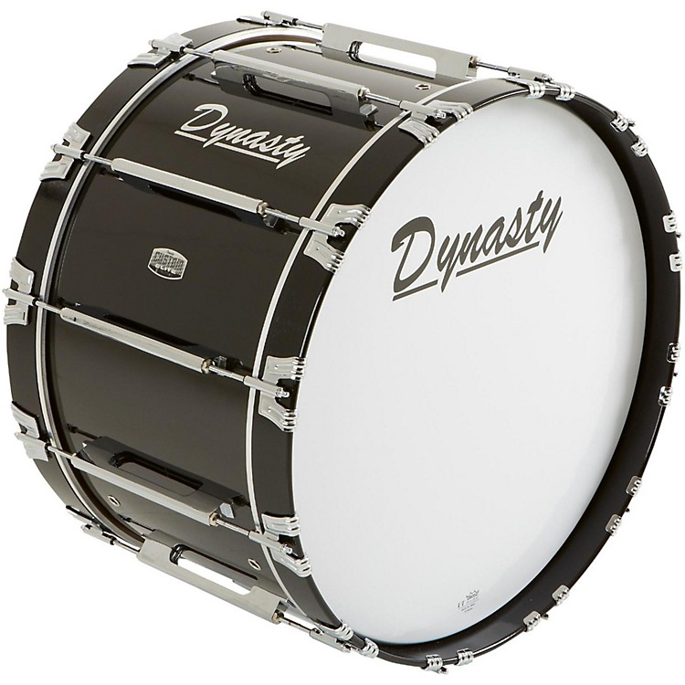 Dynasty Marching Bass Drum Black 24 x 14 in.