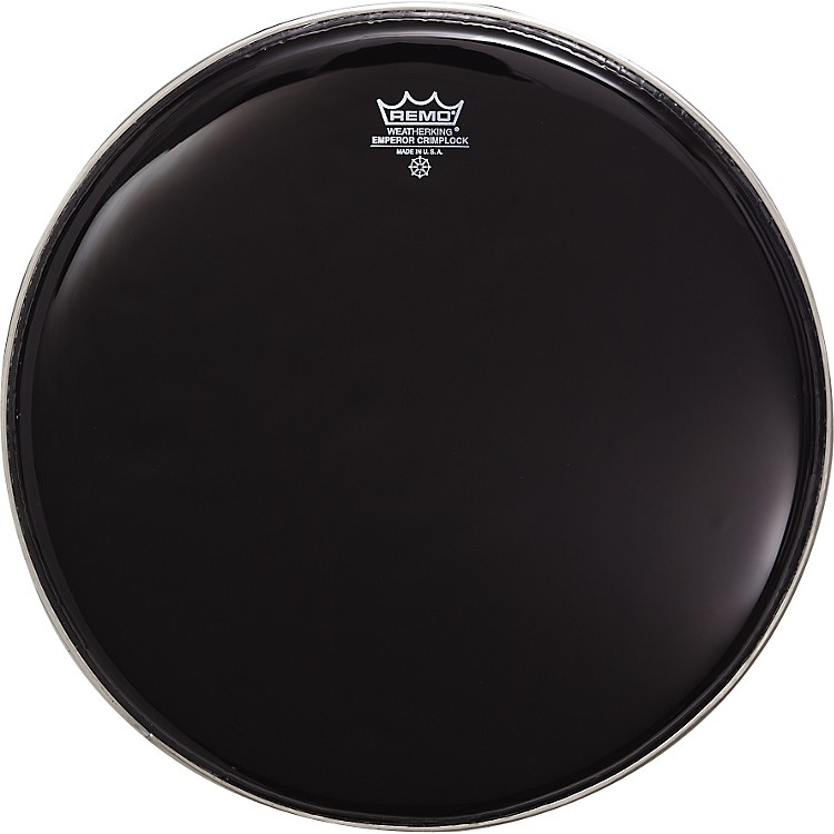 Remo Marching Batter Head Crimplock Emperor Ebony Ebony 6 Inch