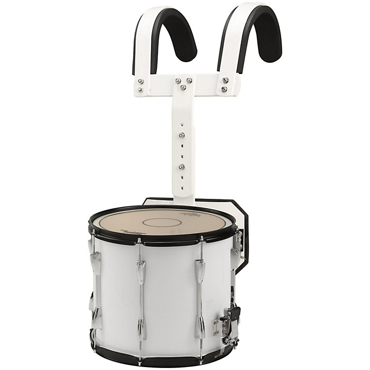Sound Percussion Labs Marching Snare Drum with Carrier 13 x 11 in. White