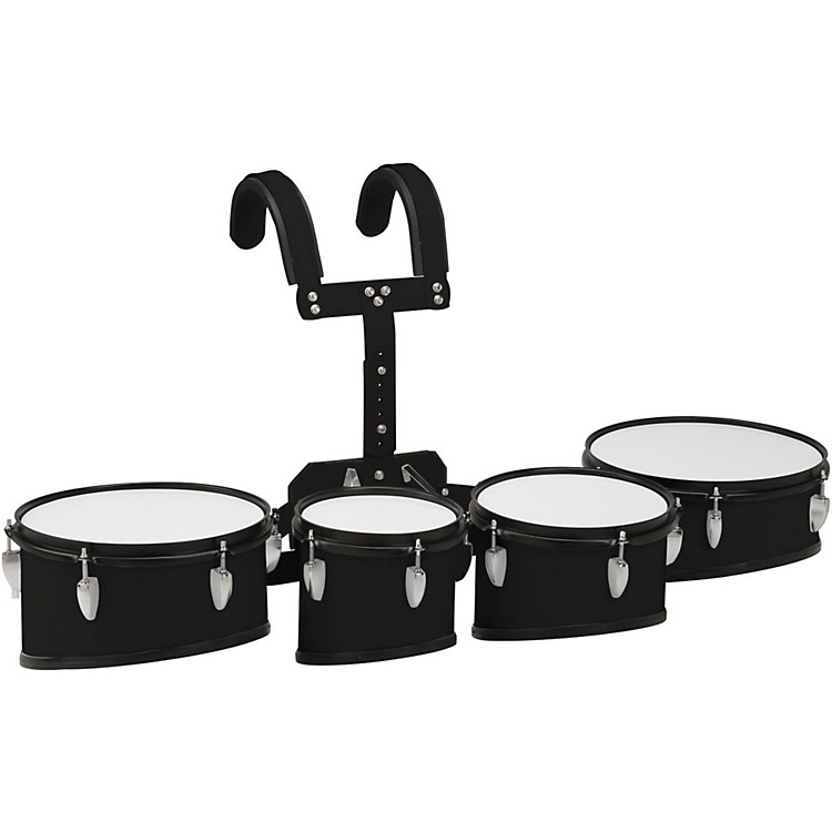 Sound Percussion Labs Marching Tenor Drum with Carrier 8 in.,10 in.,12 in.,13 in. Black