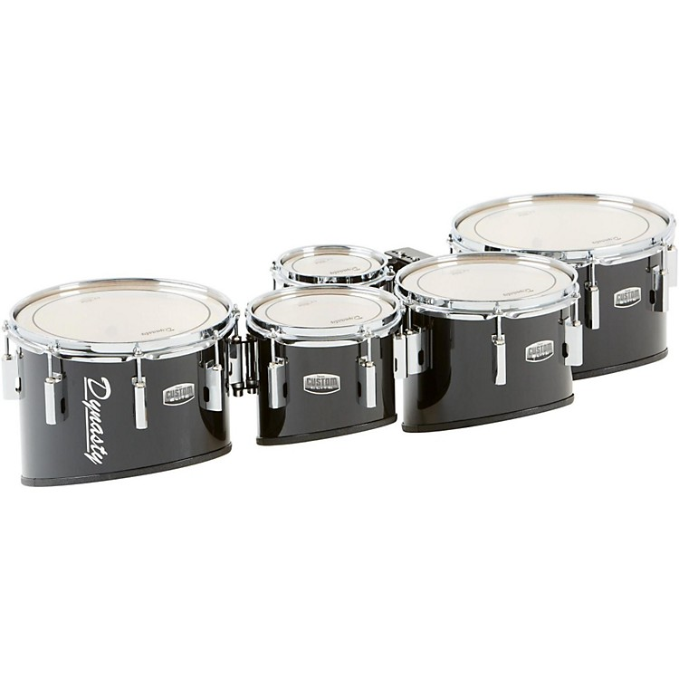 Dynasty Marching Tenor Drums Quint Black 6, 8, 10, 12, 13 in.