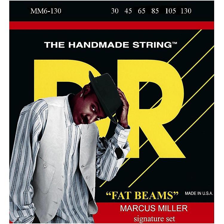 DR StringsMarcus Miller MM6-130 Fat Beams Medium 6-String Bass Strings .130 Low B