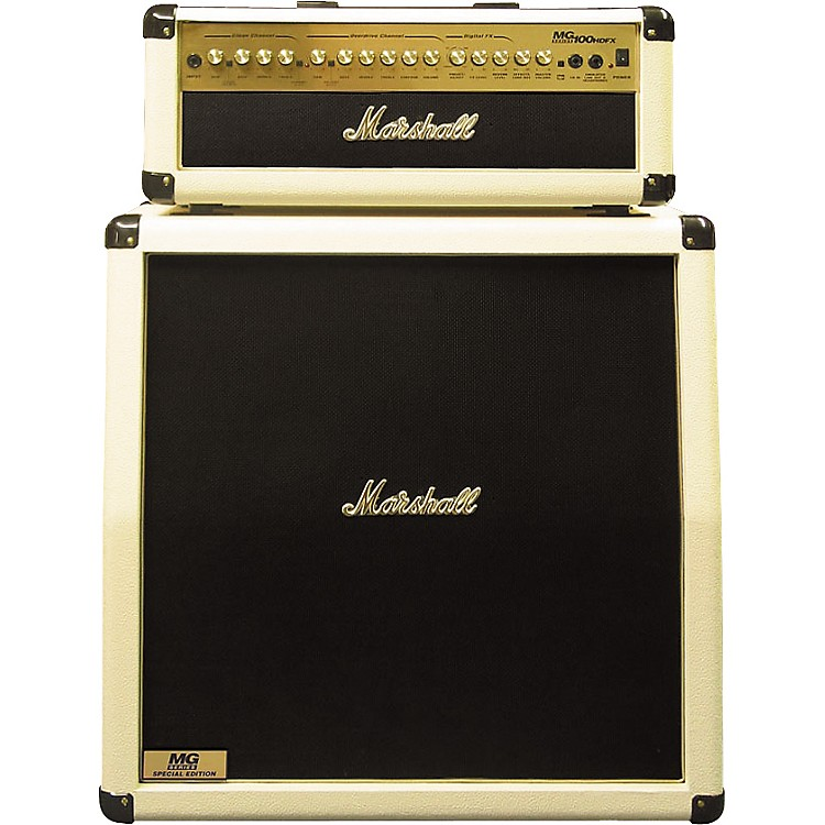 Marshall Marshall Limited Edition MG100HDFX and MG412A Half Stack White