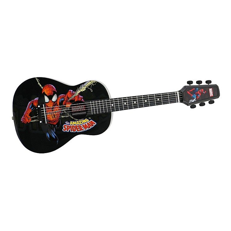 Peavey Marvel Spiderman 1/2 Size Acoustic Guitar Black
