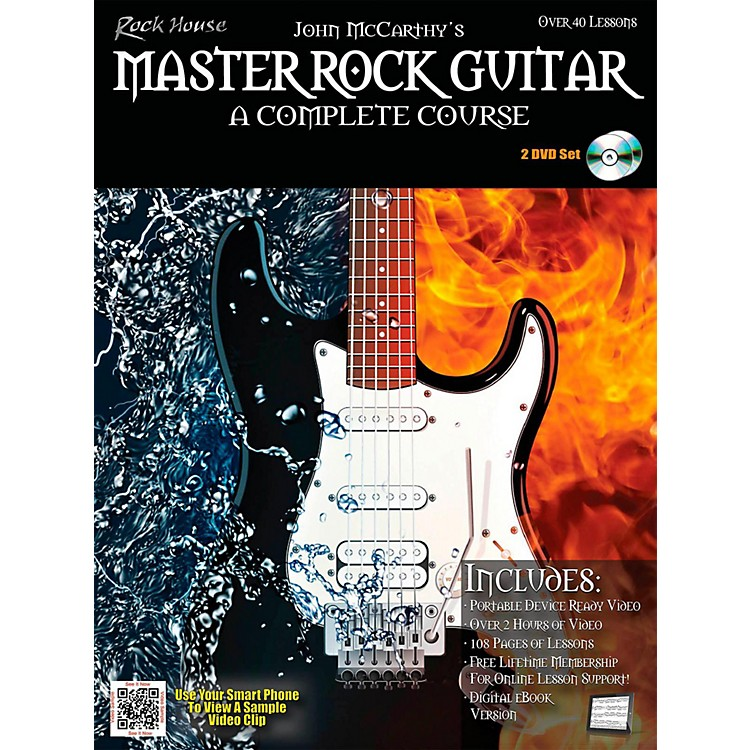 Rock HouseMaster Rock Guitar A Complete Course Book/2-DVD Pack