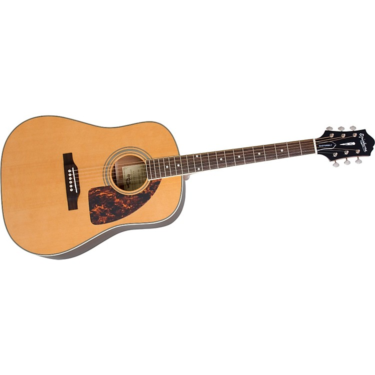 Epiphone Masterbilt AJ-500M Advanced Jumbo Acoustic Guitar Natural Satin Finish Nickel
