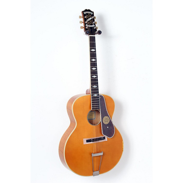 Epiphone Masterbilt Century Collection De Luxe Archtop Acoustic-Electric Guitar Vintage Natural 888365898704