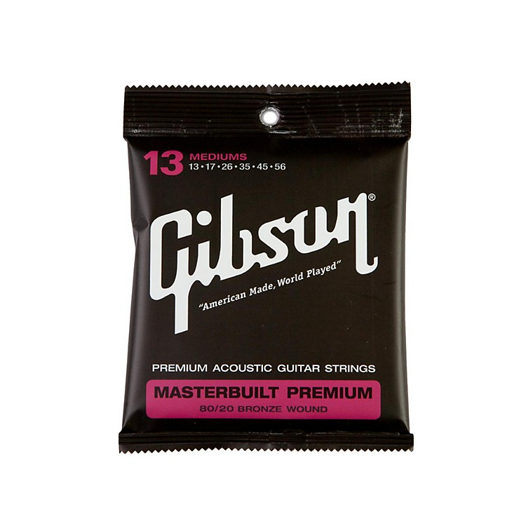 GibsonMasterbuilt Premium 80/20 Bronze Medium Acoustic Guitar Strings