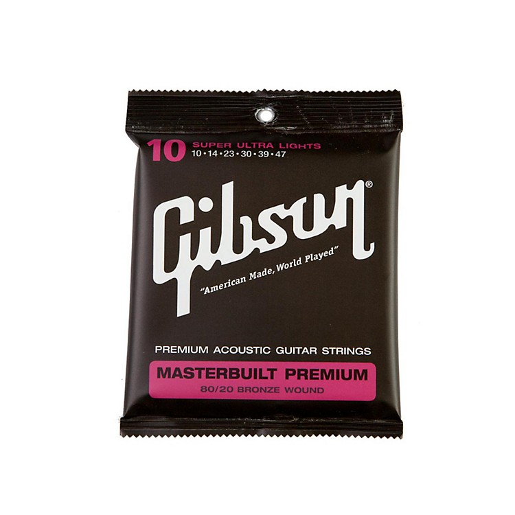 Gibson Masterbuilt Premium 80/20 Bronze Super Ultra Light Acoustic Guitar Strings